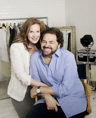 Elizabeth Perkins with her Diabetes Co-Star, her husband Julio Macat