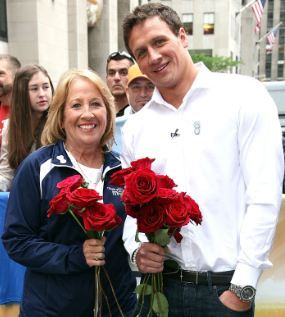 Ryan Lochte and his Cuban mother. Photo: Getty Images