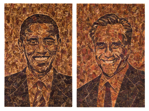 Jack Link's Beef Jerky pays the ultimate tribute to the year's biggest race by commissioning mosaic portraits of ''Barack Obameat'' & ''Meat Romney''