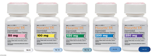 NUCYNTA® ER (tapentadol) Extended-Release oral tablets, various doses