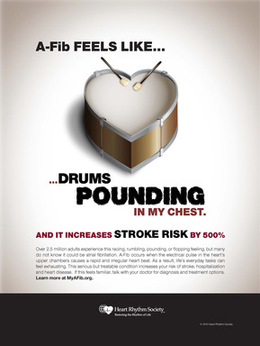 AFib Feels Like…Drums Pounding