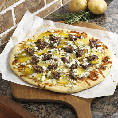 Susan Schuman's Steak and Potato Pizza
