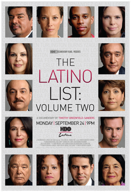 The second installment of The Latino List series from acclaimed director and photographer Timothy Greenfield-Sanders. On HBO Latino September 24 at 8PM/7C.