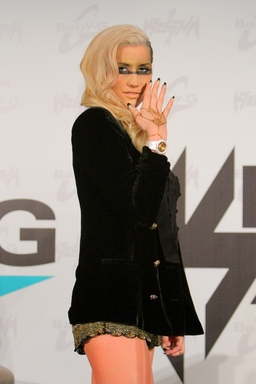 Baby-G brand ambassador, Ke$ha, displays her latest watch collaboration with the brand at its launch event on October 29, 2012 at the SLS Hotel in Los Angeles