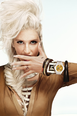 Ke$ha wears her newest watch model for the Baby-G brand, a reflection of her personal style evolvement.