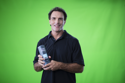 Football legend Doug Flutie reveals how he stays literally comfortable in his own skin behind the scenes at his Dove® Men+Care® commercial shoot.