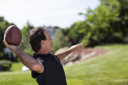 "While football legend Doug Flutie is always ""comfortable"" with a football, he reveals the milestones both on and off the field that have helped him become truly comfortable in his own skin, behind the scenes at his Dove® Men+Care® commercial shoot."