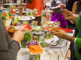 Guests enjoyed appetizers that were inspired by Del Monte garden-quality fruit and vegetables.