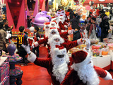 Santas express their PEEPSONALITY®, hopping through NYC delivering holiday cheer and sweetness.
