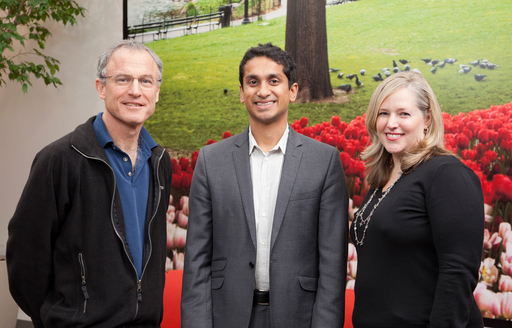 From left to right: Stephen Kaufer, CEO of TripAdvisor; Premal Shah, President of Kiva; Barbara Messing, CMO of TripAdvisor