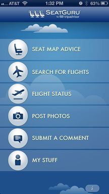 SeatGuru's new design and features will be displayed on its iPhone app in the coming weeks
