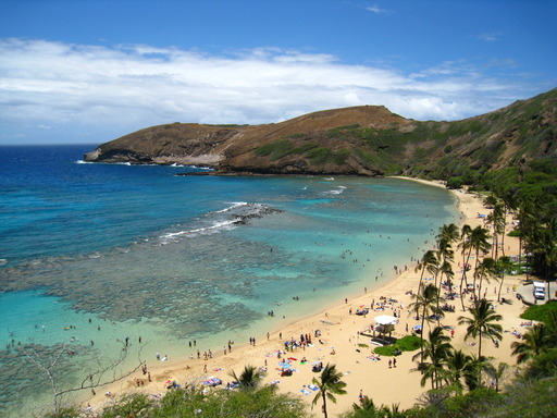 The 2013 TripAdvisor Travelers' Choice Beaches Awards named Hanauma Bay Nature Preserve in Honolulu, Hawaii among the top 10 beaches in the U.S.