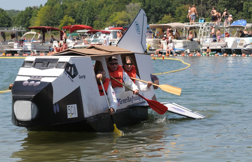 The World Championship Cardboard Boat Races in Heber Springs, Arkansas offers off-the-wall entertainment, according to TripAdvisor. (Photo: Waren Sports Photography)