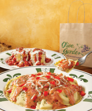 "Olive Garden's new ""Dinner Today & Dinner Tomorrow"" gives busy families a convenient and affordable ($12.95) way to enjoy two meals during the week, available Oct. 8 - Nov. 18."