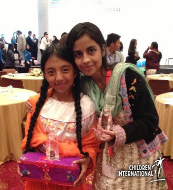 Thanks to financial education from Children International, sponsored youth Aafia and Ivonne traveled from impoverished slums to win awards at an the 2013 World Youth Summit in Istanbul, Turkey.
