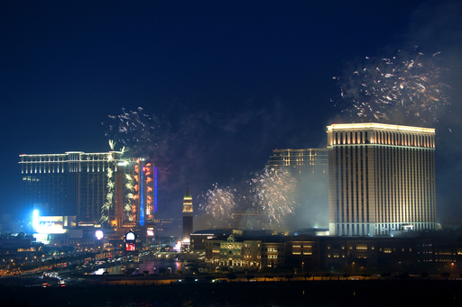 The Cotai Strip development was aflame in celebration Thursday, as Sands China Ltd. celebrated the second phase opening of Sands Cotai Central with a dazzling pyrotechnic display.