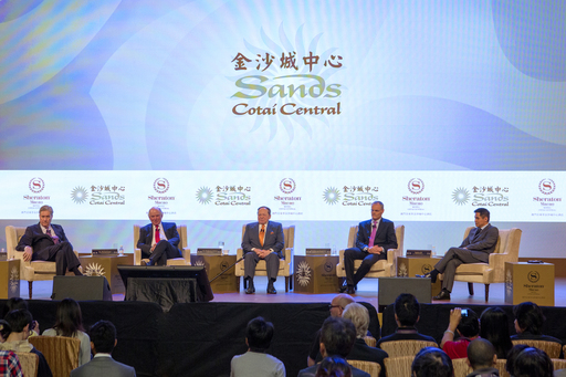 Key Sands and Starwood executives engage the press Thursday, at the second phase opening of Sands Cotai Central, featuring the opening of the world's largest Sheraton hotel.