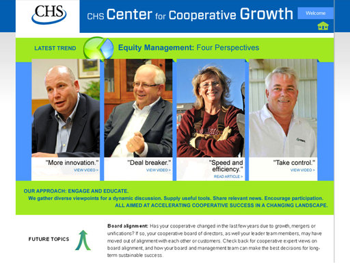 CHS Center for Cooperative Growth