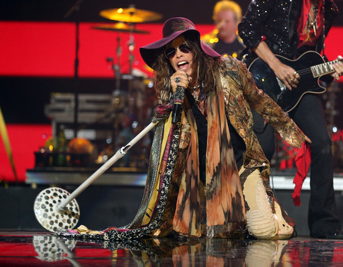 Aerosmith performs at the 2012 iHeartRadio Festival