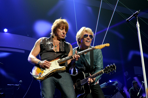 Bon Jovi performs at the 2012 iHeartRadio Festival