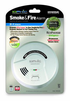 The first new smoke alarm technology to launch in more than 30 years, the IoPhic® smoke and fire alarm is the only product to offer smart microprocessor technology.