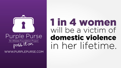 Did you know that 1 in 4 women will be a victim of domestic violence in her lifetime? The Allstate Foundation's goal is to make is easier to talk about this issue with the Purple Purse – Pass it on.