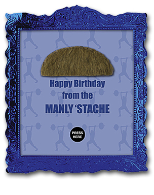 Find Mustache Party birthday cards wherever American Greetings cards are sold