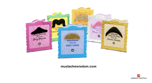 Find a Mustache Party card in your local retailer or download the Mustache Wisdom app