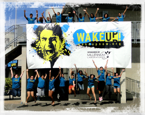 "San Diego High School Ambassadors ""the WAKE UP! Now CORE"" celebrate National launch of teen RX drug abuse program."