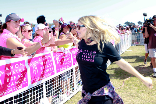 Singer Fergie participates in the Avon Walk for Breast Cancer Santa Barbara, which raised more than $4.7 million for breast cancer care and research, on September 23, 2012 in Carpinteria, CA.