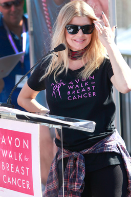 Avon Foundation for Women Global Ambassador Fergie presents more than $3 million in grants to Southern California breast cancer programs at the Avon Walk for Breast Cancer on September 23, 2012.