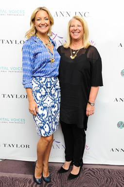 Kay Krill, President & CEO of Ann Inc. and Kate Hudson, Ann Taylor Brand Ambassador at ANNpower Vital Voices Leadership Forum in Washington, D.C.