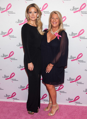 Kate Hudson and CEO of ANN INC, Kay Krill, at BCRF Hot Pink Party