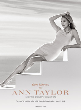 Kate Hudson wearing Premiere Dress from Kate Hudson for Ann Taylor limited-edition collection