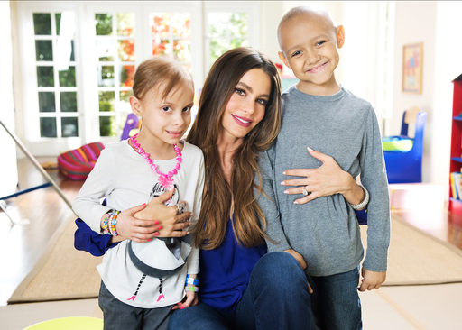 Sofia Vergara and St. Jude Children's Research Hospital Patients Alana and Christian