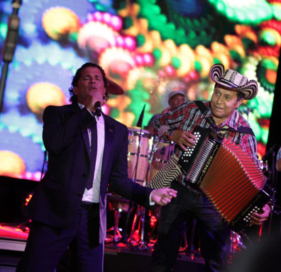 Carlos Vives performing at the 2013 FedEx/St. Jude Angels & Stars Gala