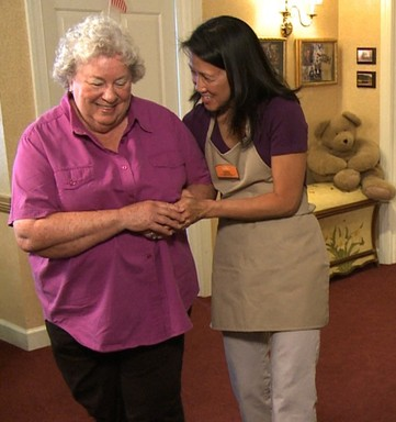 Sunrise Designated Care Manager helps resident