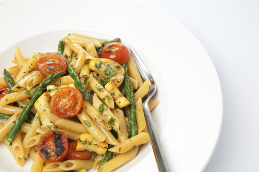 Roasted Vegetable Pasta is a delicious veggie-filled dish to help celebrate National Pasta Month