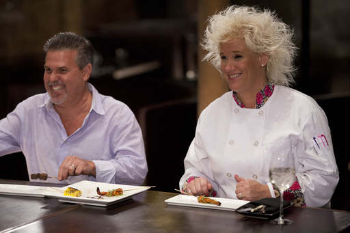 Host Anne Burrell and Richard Sandoval, Chef and Owner of Zengo