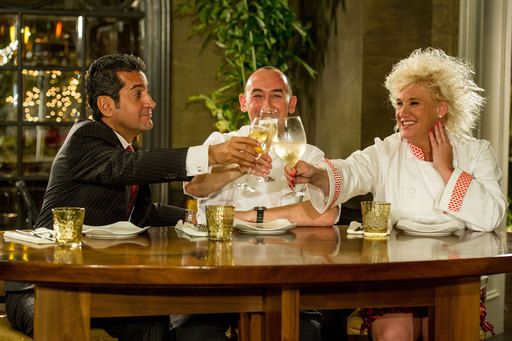 Chef Anne Burrell, Four Seasons GM Mehdi Eftekari and Four Seasons Executive Chef Ashley James