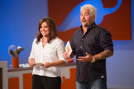 Rachael Ray and Guy Fieri on Rachael vs Guy Kids Cook-Off