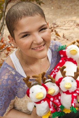 The 2012 Aflac Holiday Duck was designed by Monica Sandoval, a 16 year-old patient at the Aflac Cancer Center.
