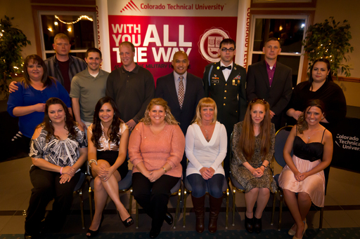 These wounded service members and spouses based in Colorado Springs, Colo., are among the 50 recipients of full scholarships from Colorado Technical University.