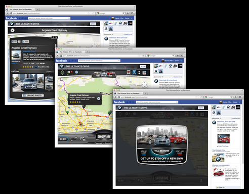 BMW Financial Services The Ultimate Drive for Facebook is a community app enabling drivers to find – and share – exceptional driving roads and favorite routes, as well as to remain in touch with all the world of BMW.