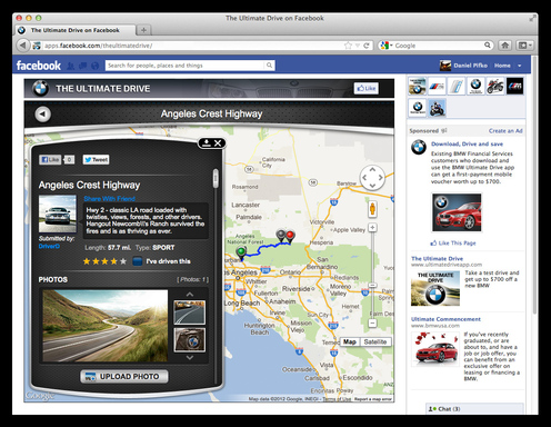 Facts, photos, driving information – everything you want to know about some of the greatest drives can be found on these pages of The Ultimate Drive for Facebook app.