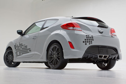 Inspired by Hyundai's successful RE:MIX Lab program, Hyundai introduced a special edition RE:MIX production Veloster to the enthusiast crowd at this year's SEMA Show.