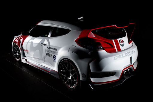 "Hyundai America's internal design and technical center created the ""Velocity"" factory-tuner concept for the company's popular Veloster sport coupe."