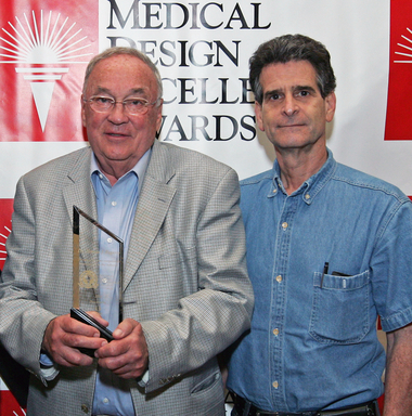 2012 MDEA Lifetime Acheivement Award Winner,  Dr. Thomas Fogarty with presenter Dean Kamen