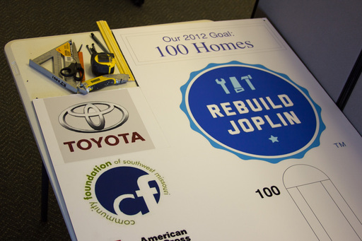 Toyota boosts home reconstruction in Joplin, Mo., since devastating tornado; automaker's production techniques credited for getting residents back home 34 percent faster