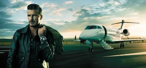 David Beckham Travels by Breitling